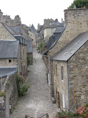 Empty stone street, Dinan. GLK