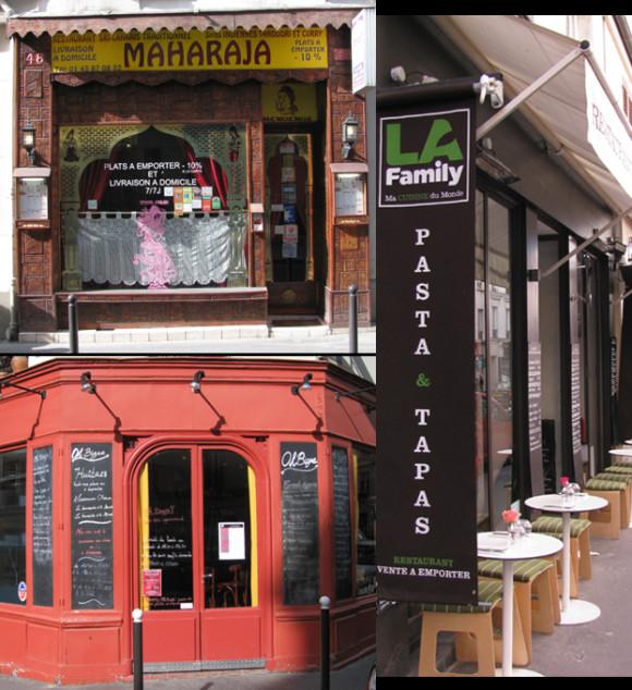 Restaurants, Batignolles Quarter, Paris, 17th arr. GLK