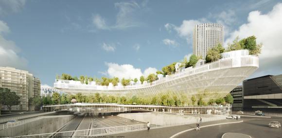 Reinventing Paris project Mille Arbres (c) Sou FujimotoManal Rachdi Oxo Architecture