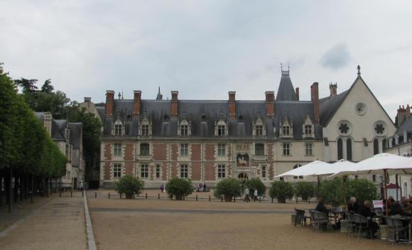 Blois Castle across the square. GLK