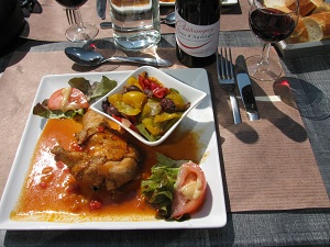 Lunch in Chatel-Guyon.