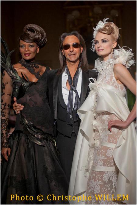 Rebecca Ayoko (Odile), Jean Doucet and Irina Kolesnikova (Odette). Photo Christophe Willem.