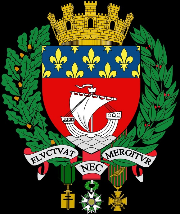 fluctuat nec mergitur and the coat of arms of the city of paris