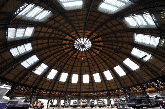 Chambery's locomotive roundhouse (rotonde). Photo G Garofolin Chambery Tourisme & Congres.