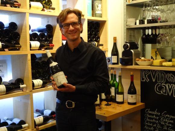 Vincent Martin, co-owner-sommelier of Le Vin en Bouche. Photo GLK.