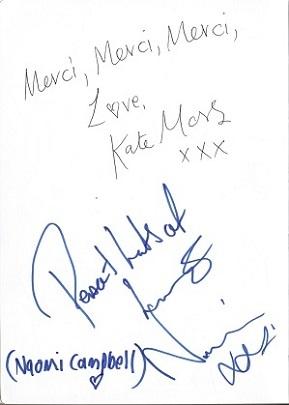 La Poule au Pot guest book: Kate Moss, Naomi Campbell, Paris 1995