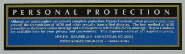 Condom distributor, Fayetteville, NC