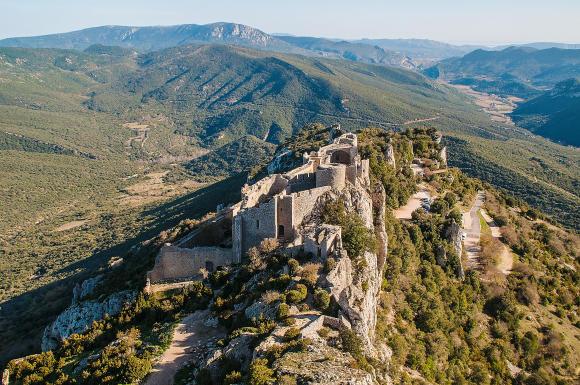 Peyrepertuse Castle, Aude, Cathar fortress