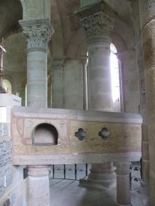 Tomb of Saint Menoux. Photo GLK.